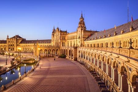 Séville, Espagne à la place d'Espagne (Plaza de España).