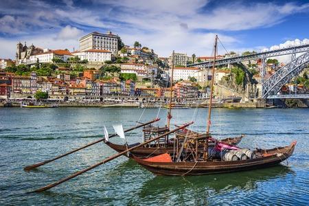 porto: Porto, Portugal cityscape on the Douro River.