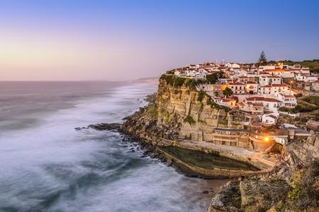 sintra: Azenhas Do Mar, Sintra, Portugal townscape on the coast.