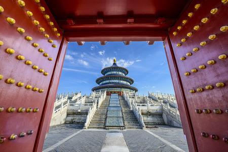 Tempel des Himmels Tor in Peking, China. Editorial