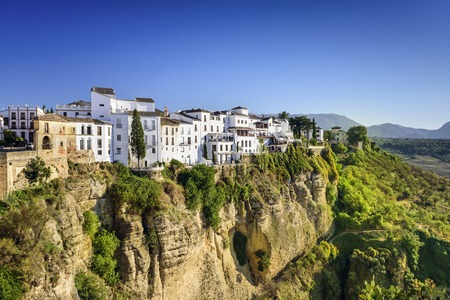 Ronda, Spain buildings on the Tajo Gorge.