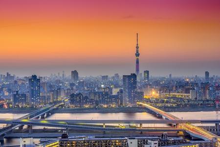 sumida: Tokyo, Japan city skyline at Sumida Ward.