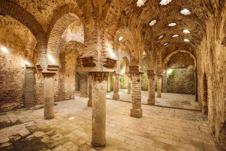 Ronda, Spanje in de Arabische baden uit de 11e-12e eeuw.
