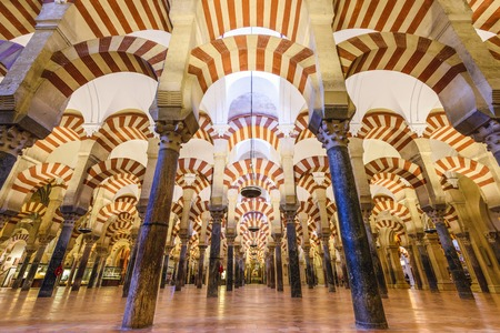 historical sites: CORDOBA, SPAIN - CIRCA 2014: Mosque-Cathedral of Cordoba. The site underwent conversion from a church to a mosque and back again, with the current cathedral being built into the 10th century mosque.