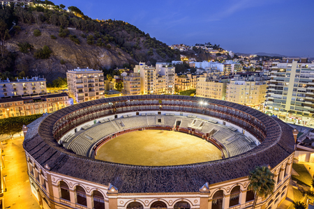 MALAGA, SPAIN - NOVEMBER 2, 2014: La Malagueta Bullring at the Plaza de Torros.