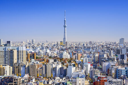tokyo sky tree: Tokyo, Japan cityscape in the day.