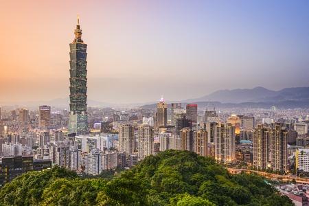 taipei: Taipei, Taiwan city skyline at dusk.