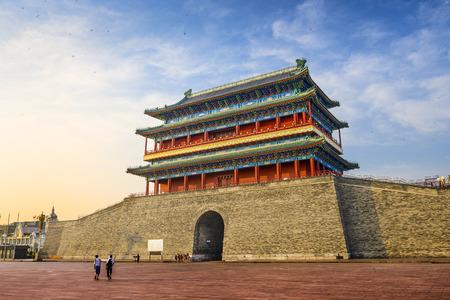 gatehouse: Beijing, China at the Zhengyangmen Gatehouse in Tiananmen Square. Stock Photo