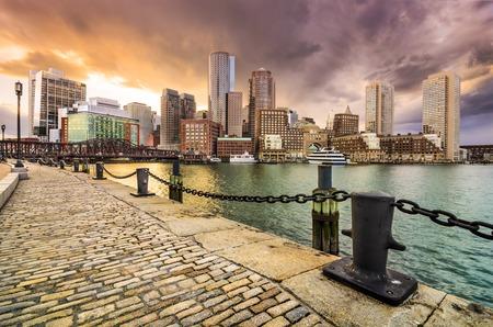 boston: Boston, Massachusetts, USA Skyline at Fan Pier.