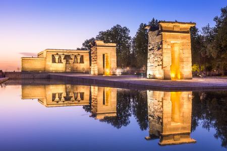 madrid  spain: Temple Debod in Madrid, Spain.