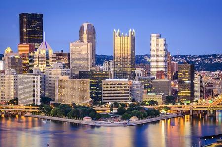 Pittsburgh, Pennsylvania, USA downtown skyline. photo