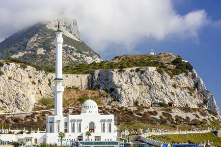 gibraltar: Mosque at Rock of Gibraltar. Stock Photo