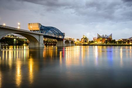 Chattanooga, Tennessee, USA city skyline at dusk.