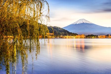 Mt. Fuji at Kawaguchi Lake in Japan. photo