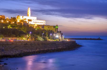 yaffo: Tel Aviv, Israel en la antigua Jaffa. Foto de archivo