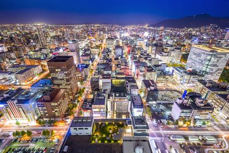 hokkaido: Sapporo, Hokkaido, Japan cityscape in the Chuo Central Ward. Stock Photo
