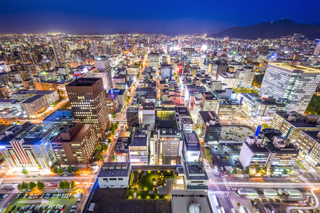 sapporo: Sapporo, Hokkaido, Japan cityscape in the Chuo Central Ward. Stock Photo