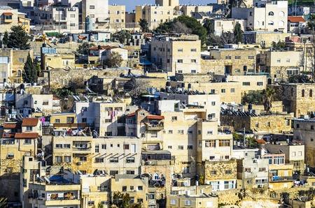 Jerusalem, Israel hillside homes near the old city.
