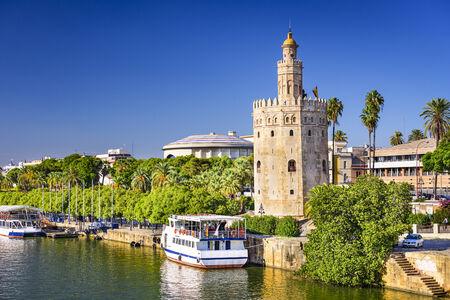 Torre del Oro in Sevilla, Spanje. Stockfoto