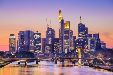 Frankfurt am Main, Germany City Skyline at dusk. photo
