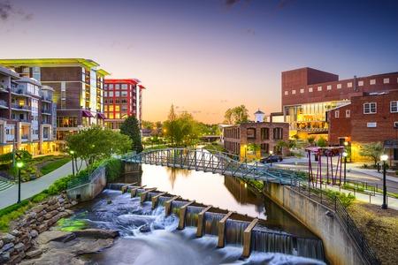 Greenville, Carolina del Sur paisaje urbano de la ciudad Foto de archivo