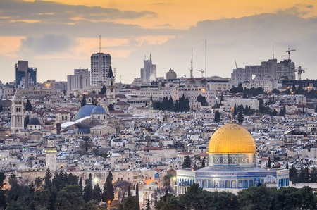 palestinian: Jerusalem, Israel old city skyline.