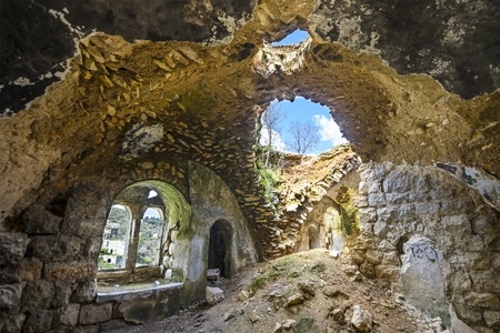 palestinian: Lifta, Jerusalem, Israel abandoned hillside village.