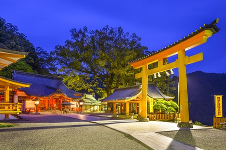 night scenery: Nachi, Japan at Kumano Nachi Taisha Grand Shrine. Editorial