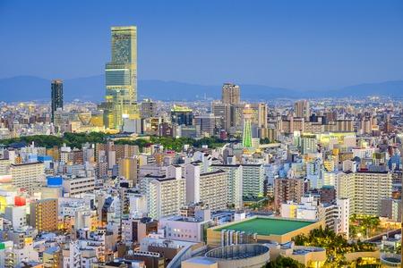 Osaka, Japan cityscape view of Abeno and Shinsekai districts. photo