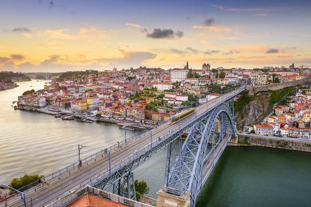 Porto, Portugal cityscape on the Douro River.