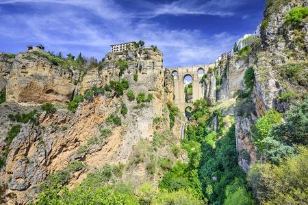 Ronda, Spanje op brug Puente Nuevo.