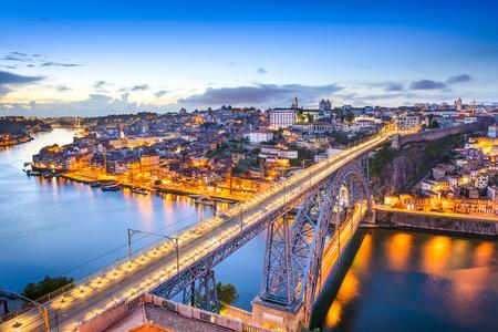 Porto, Portugal cityscape on the Douro River. photo