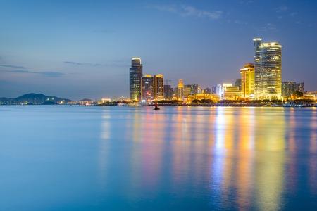 Xiamen, China skyline of Amoy Island. photo