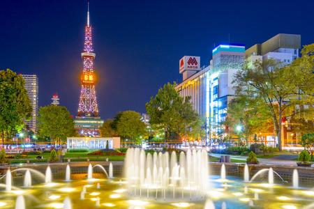 odori: Sapporo, Japan at Odori Park. Editorial