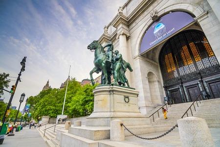 NEW YORK CITY - 13 mei 2012: American Museum of Natural History in Manhattan. De museale collecties bevatten meer dan 32 miljoen exemplaren.