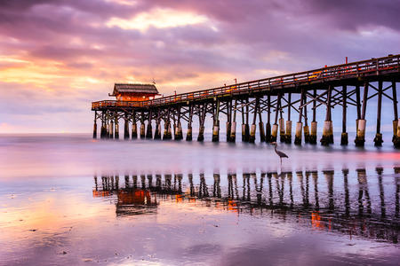 fl: Cocoa Beach, Florida, USA at the pier. Stock Photo