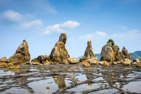 boulders: Kushimoto, Wakayama Prefecture, Japan at the Hashi-gui-iwa boulders.