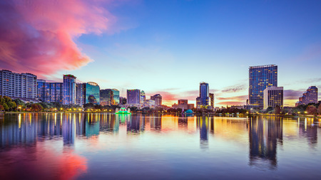 Orlando, Florida, USA downtown city skyline Stock Photo