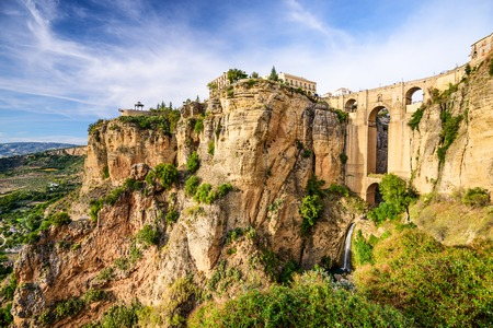 ronda: Ronda, Spain at Puente Nuevo Bridge. Stock Photo
