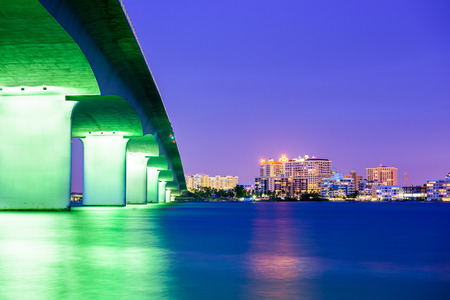 Sarasota, Florida, USA downtown city skyline. Stock Photo