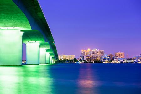 fl: Sarasota, Florida, USA downtown city skyline. Stock Photo