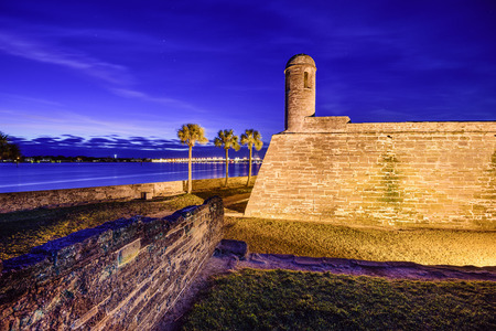 marcos: St. Augustine, Florida at the Castillo de San Marcos National Monument. Stock Photo