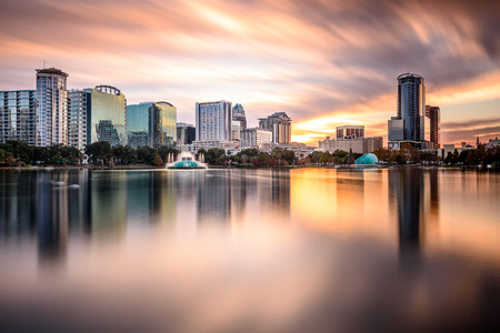 downtown: Orlando, Florida, USA downtown city skyline.