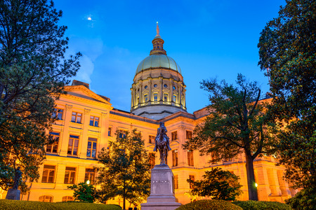 Georgia State Capitol Building in Atlanta, Georgia, USA. Stock Photo - 35805247