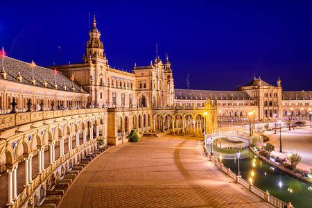 Sevilla, Spanje in het Spaanse plein.