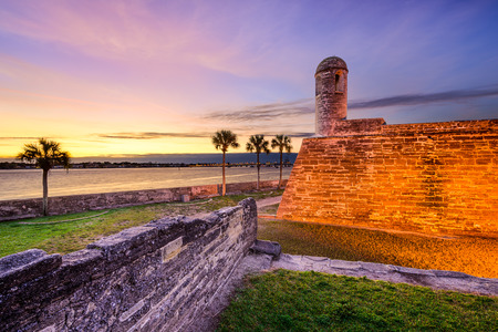 ST: St. Augustine, Florida at the Castillo de San Marcos National Monument. Editorial