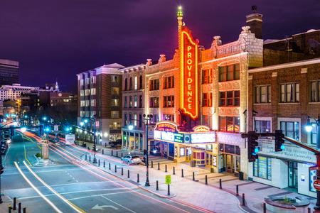 プロビデンス、ロードアイランド - 2013 年 4 月 11 日: プロビデンス芸能センター。映画宮殿として 1928 年に開いた建物が歴史的な場所の国内登録です 報道画像