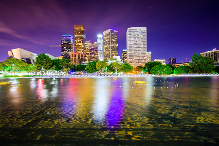 Los Angeles, California, USA skyline van het centrum van de stad. Stockfoto