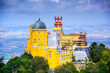 Sintra, Portugal at Sintra National Palace 스톡 콘텐츠