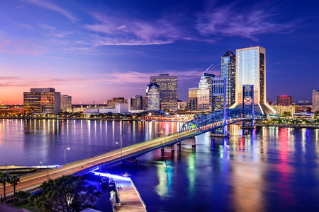 florida: Jacksonville, Florida, USA downtown city skyline.